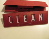 Clean Dirty Dishwasher Magnet Sign (Red)