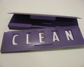 Quick Flick, Clean / Dirty Dishwasher Sign (purple)