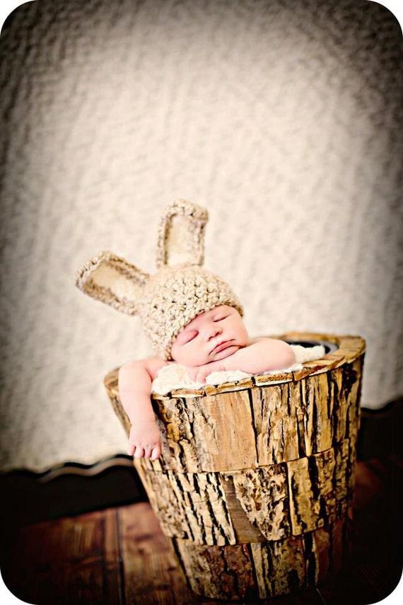 Newborn Baby Photo Prop Bunny Ears Hat