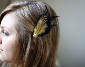 25% OFF - Fields of Gold - Black and Gold Hair Fascinator
