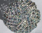 Vintage jewelry bracelet brooch set in rhinestone brooch and  bracelet set mint condition wedding set
