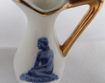 Vintage Hans Christian Andersen Mermaid Porcelain miniature pitcher