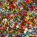 Many Brightly Colored Seed Beads Jewelry Makers Crafters Studio Art 8x10 Fine Art Print