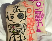 Robot Girl with buttons