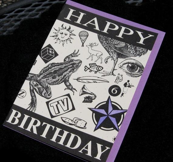 HAPPY BIRTHDAY blank greeting card