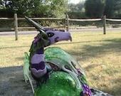 OOAK Polymer Clay Fantasy Art Dragon Sculpture