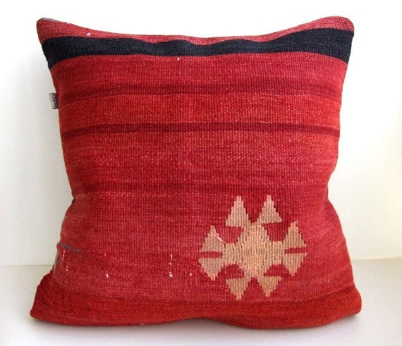 REZERVED For Sara Anatolian turkish  Rug Pillow Cover (kilim)