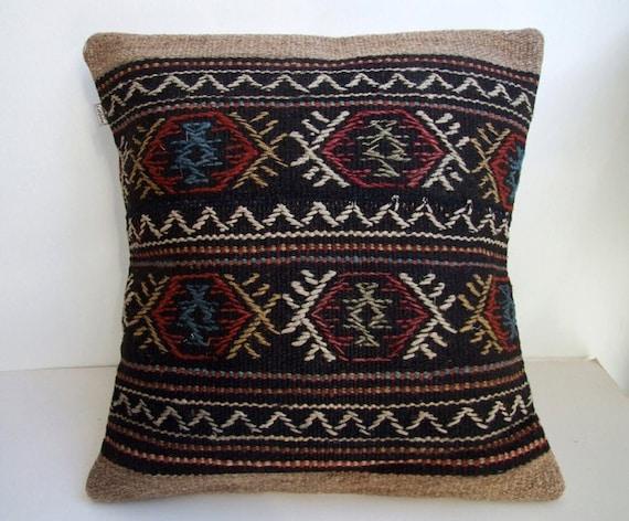 Anatolian Rug Pillow Cover ( kilim )
