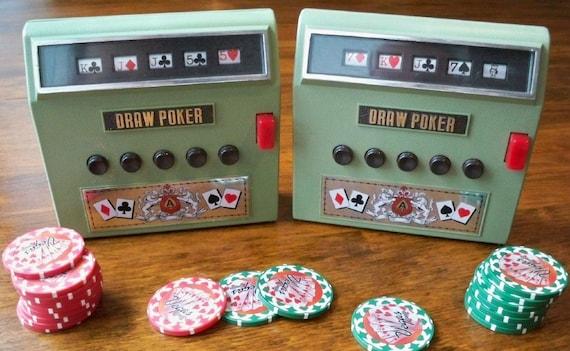 Vintage Waco 1971 Draw Poker Handheld Games Set Of Two