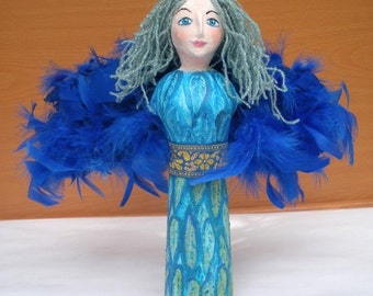 OOAK Handmade Art doll Bird Gamayun