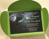 Full Moon Halloween Wedding Invitation, Party Invitation, SAMPLE