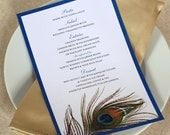 Peacock Feather Dinner Menu, DEPOSIT