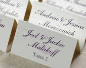 Scroll Wedding Escort Cards, Wedding Place Cards, DEPOSIT