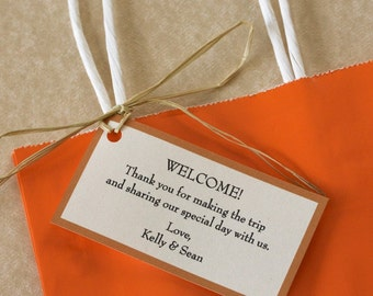 Wedding Welcome Gift Tags, Set of 10