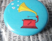 Set of three pinback buttons 1.5 in funky set