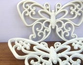 Pair of Vintage Butterflies Wall Decor