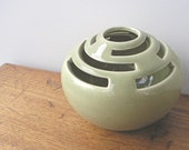 Vintage Pottery Flower Frog by Designs Carmel