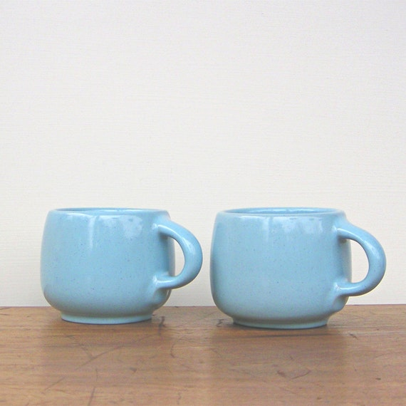 Robins Egg Blue Frankoma Cups