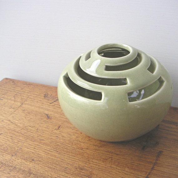 Vintage Pottery Flower Frog by Designs Carmel