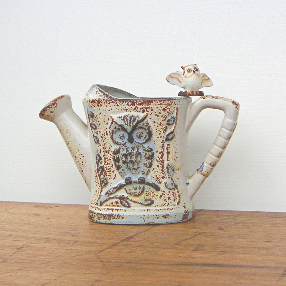 Vintage Treasure Craft Pottery Watering Can