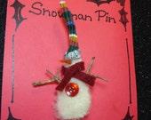 Funky Snowman Lapel Pin