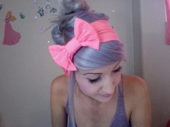 LAST ONE Adorable fun barbie hot pink bow turban headband
