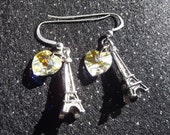 I Heart Paris Choose Your Color: Eiffel Tower Swarovski Earrings (Free Shipping)