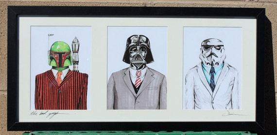 The Bad Guys... Starwars triptych