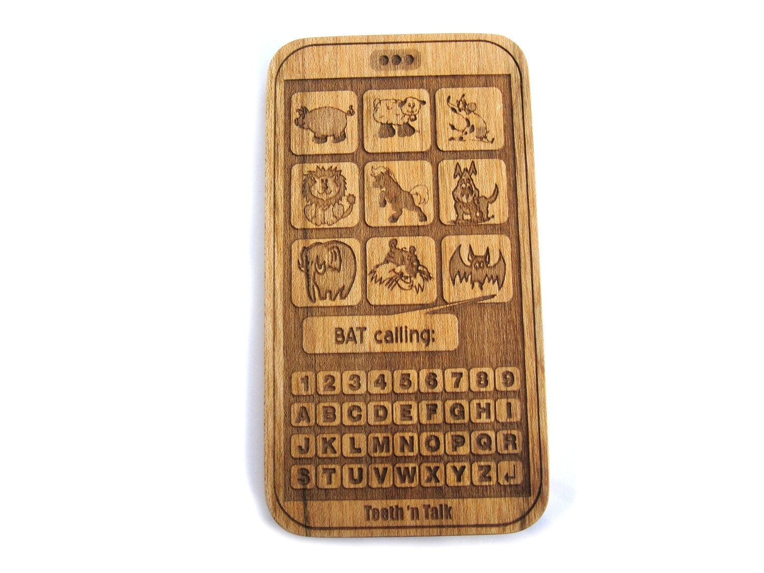 Smart Phone Toy Wooden Cell Phone Toy All Natural Wood