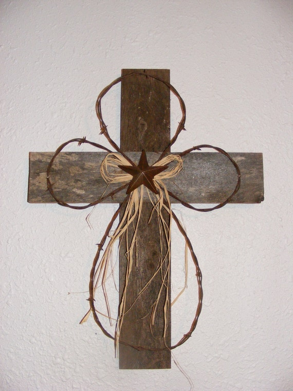 Rustic wood cross for Very simple wire craft projects