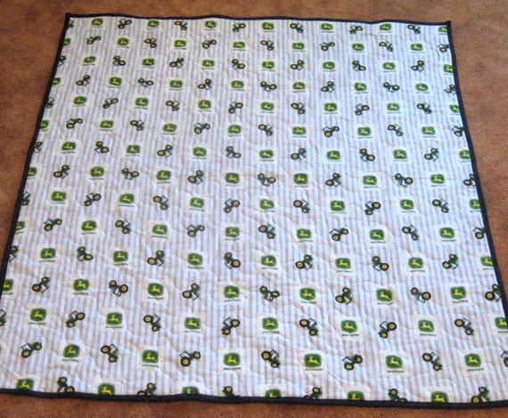 John Deere Flannel Baby Quilt