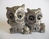 Vintage Pewter Owls - Michael Ricker - FT