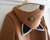 Adult Ladies Fox Coat in Sienna or Grey