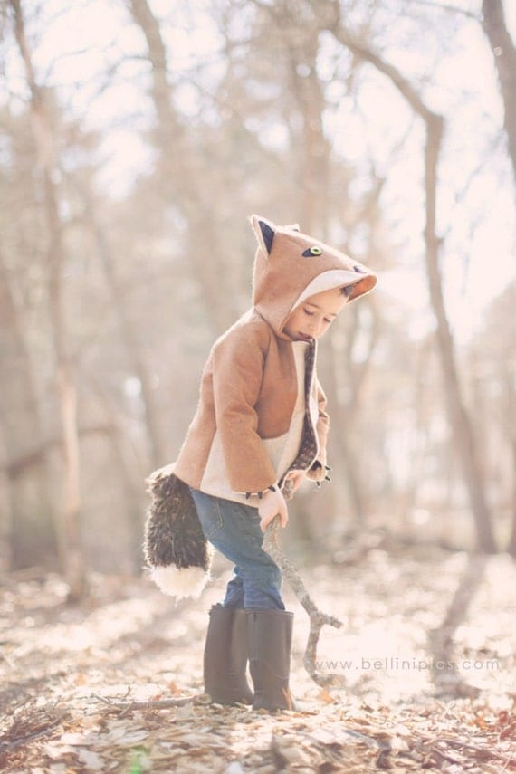 Fall Kids Coat:  Fantastic Little Fox