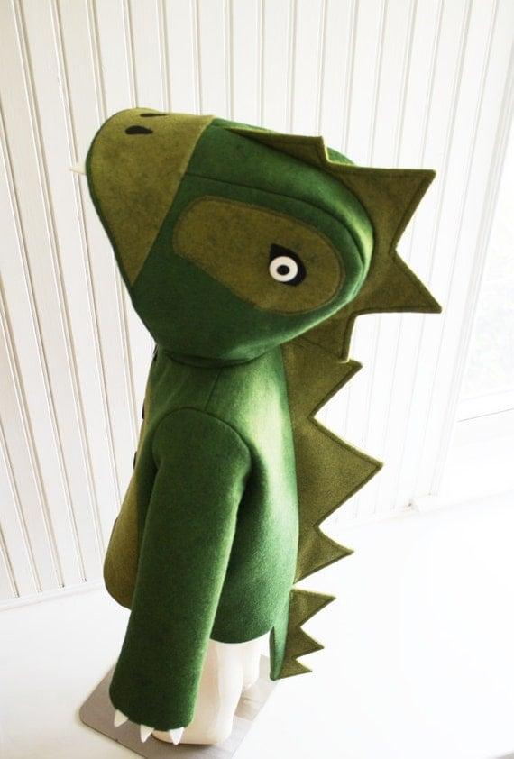 Kids Coat Cheeky Green Dinosaur