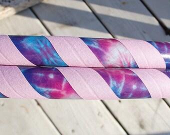 Tie Dye Galaxy Custom Hula Hoop- CHOOSE a Grip Color - Collapsible or Standard - Any Size Hoola Hoop