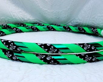 Green Pirate Custom Hula Hoop - Collapsible for Standard - Any Size Hoola Hoop