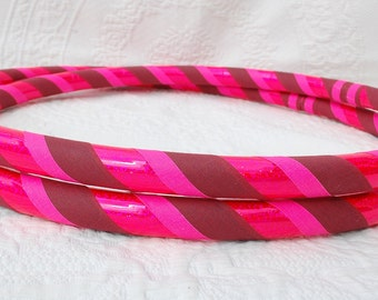 Pink Party Custom Hula Hoop GLOWS in Black Light- Collapsible or Standard - Any Size Hoola Hoop