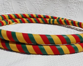 Rasta All Grip Custom Hula Hoop - Collapsible or Standard - ANY Size Hoola Hoop