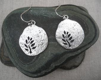 Silver Tree Earrings - Leaf Earrings - Tree Jewelry- Simple Everyday - Fun & Unique Jewelry