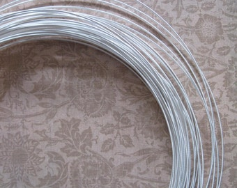5 Yards 21 Gauge White or Black Millinery Wire