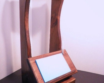 Wooden Hanging Note Stand