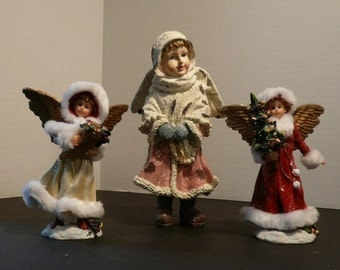 Set of 3 Standing Christmas Angels