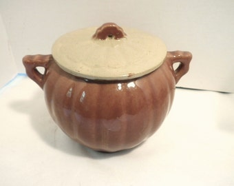 Pumpkin Shaped Ceramic Cookie Jar With Lid
