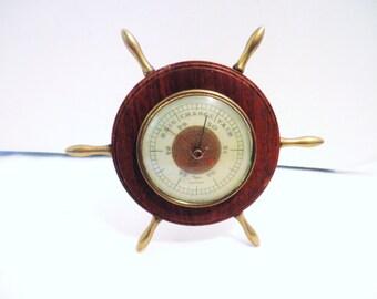 Taylor Desktop Barometer Ships Wheel Baroguide Circa 1940s