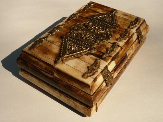 Antique Camel Bone Jewelry Box