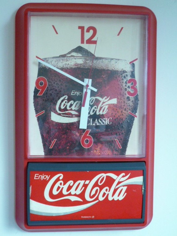 Large Coca Cola Classic Battery Operated Wall Clock By