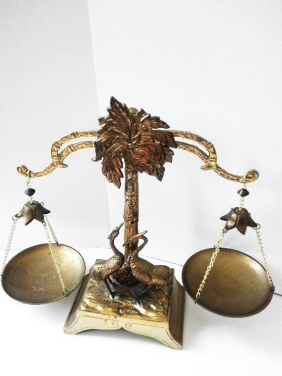Heavy Decorative Brass Balancing Scale