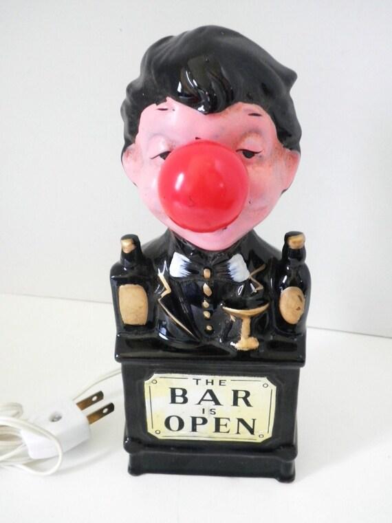 1950s Red Light Bar Open Light