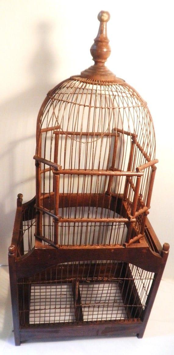 Antique 2 Tier Metal Bird Cage Victorian Era